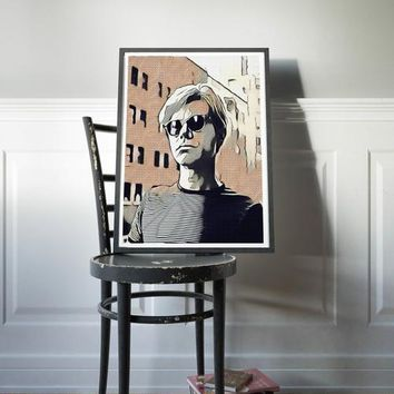 Andy Warhol Poster Painting Pop Art Print Canvas