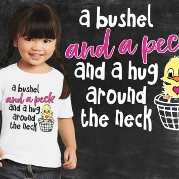 A Bushel and a Peck Girls Graphic T-shirt