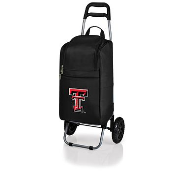 Texas Tech Red Raiders Cart Cooler with Trolley-Black Digital Print