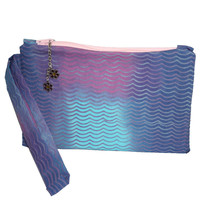 Tie Dyed Waves and Charms Simple Clutch