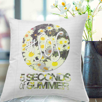 "5SOS Daisies Pillow Case # 18"" x 18"" , 16"" x 24"" , 20"" x 30"""
