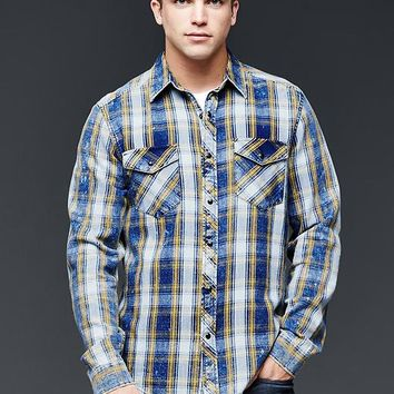 Gap Men 1969 Western Plaid Shirt