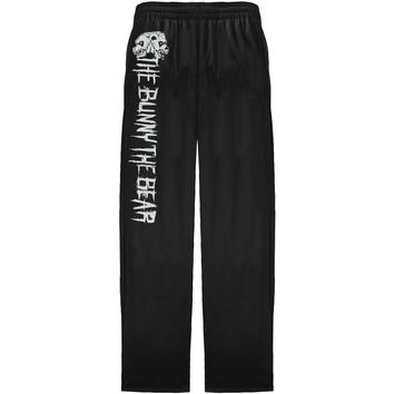 Bunny The Bear  Evil Skull Sweatpants Black Rockabilia