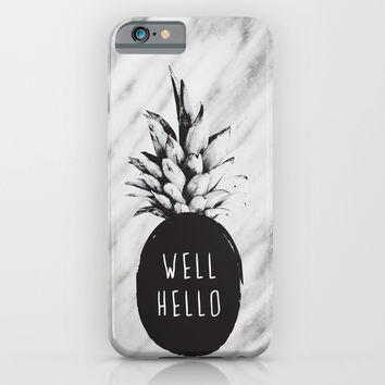 Well Hello iPhone & iPod Case by Cafelab