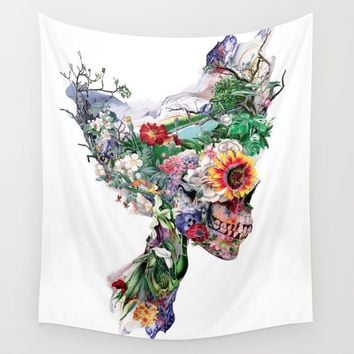 Don't Kill The Nature Wall Tapestry by RIZA PEKER