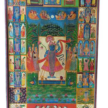 Beautiful Antique India Vintage Rare Wall Art Decoration Wooden Door Panel-Mogul Decor Idea