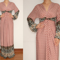 Maxi Dress Long Sleeve Dress in Pink for Women