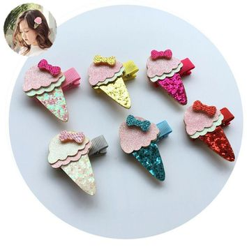 kawaii ice cream hair clip accessories bows clips tiara headdress girls kids hairpin oranments headwear hairgrips kids