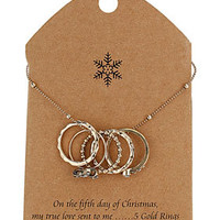 Five Gold Rings Necklace - Jewelry  - Accessories