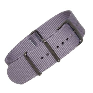 22mm Grey Nylon NATO - Black Buckle
