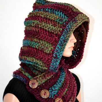 Handmade Hooded Cowl/ Crochet Winter Cowl/ Trending Item/ Ready to Ship