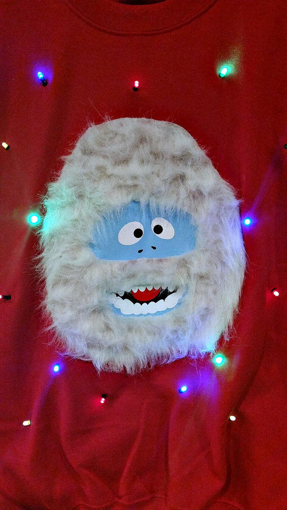Abominable snow monster light up ugly from for Abominable snowman christmas light decoration