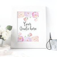 Custom quote print - Custom print - Custom typography - Custom digital print - Housewarming gift - Wedding gift - Gift for her