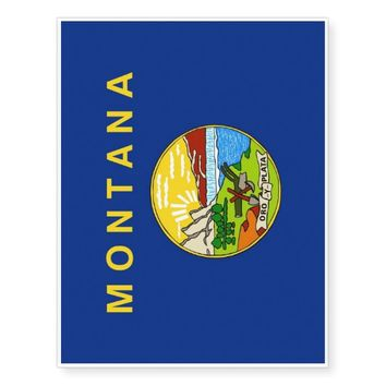 Patriotic temporary tattoos Flag of Montana