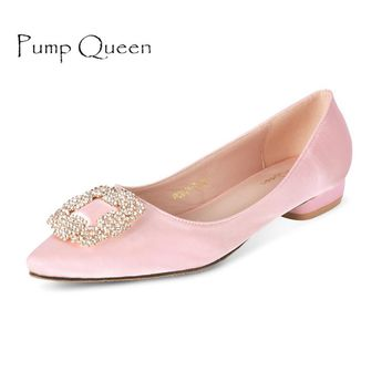 Brand New Elegant Women Flats 2017 Spring Autumn Ladies Shoes Rose Quartz Slip On Footwear Pointed Toe Zapatos Mujer Black