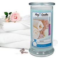 Fresh Linen Ring Candle
