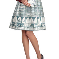 Merriment in the Market Skirt | Mod Retro Vintage Skirts | ModCloth.com