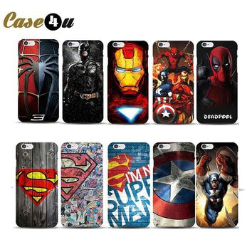 Deadpool Dead pool Taco Marvel Superman Avengers Case Coque for iphone 8 7 6s plus 5s SE Capinhas Superhero Ironman Comic Spiderman Batman Phone Covers AT_70_6
