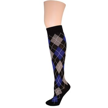 Argyle Obsession Knee High