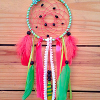 "Neon Watermelon 5"" custom hand made dream catcher"