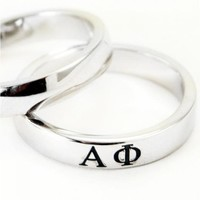 Alpha Phi Sterling Silver Ring - Alpha Phi - Sorority