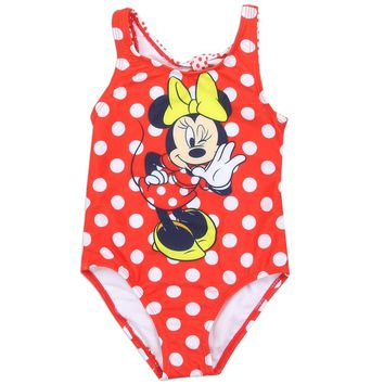 Minnie Mouse Toddler Girls Swimsuit.
