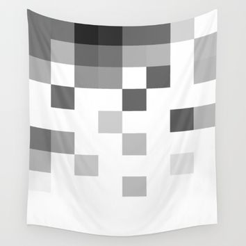 Gray Scale In Pixels Wall Tapestry by ARTbyJWP