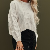 Autumn Is Calling Knitted Sweater (Ivory)