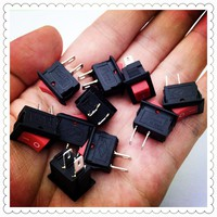 10pcs/lot RED 10*15mm SPST 2PIN ON/OFF G125 Boat Rocker Switch 3A/250V Car Dash Dashboard Truck RV ATV Home
