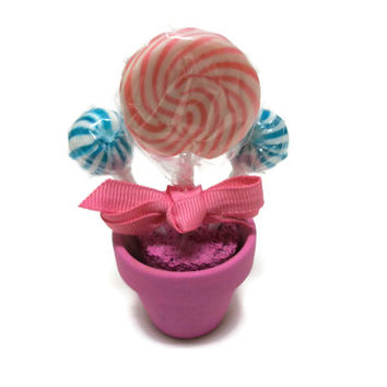 Mini Lollipop Arrangement (Pink/Blue) Customizable for place settings