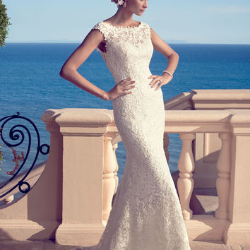 Casablanca Bridal 2183 Lace Low Back Wedding Dress