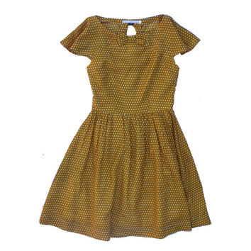 Marigold Dress in Mustard Polka Dot- Spring Blooms Collection