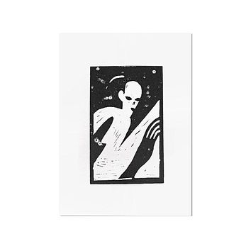Creep Block Printed Art Print (Limited Edition)