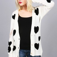Love Struck Cardigan   Distressed Cardigans at Pink Ice