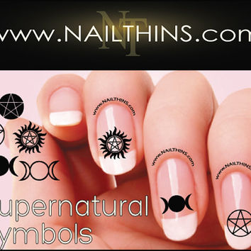 Supernatural Nail Decal symbols Nail Designs NAILTHINS Nail art design