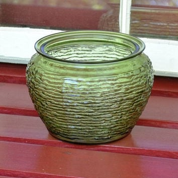 Vintage Green Glass Vase Pot Panchosporch