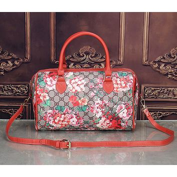 Gucci Women Leather Multicolor Luggage Travel Bags Tote Handbag