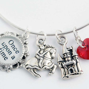 Fairy Tale Jewelry - Prince Charming Bangle Bracelet - Once Upon a Time - Romantic Jewelry