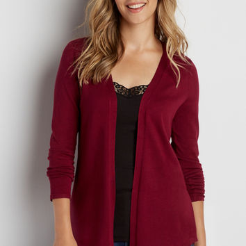 cardigan with pointelle stitch back | maurices