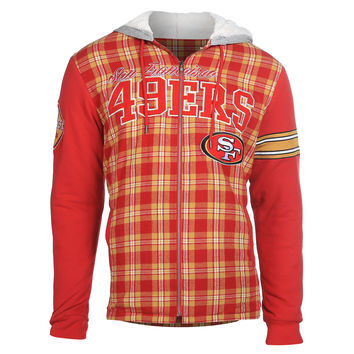 San Francisco 49ers KLEW Flannel Hooded Jacket Size M-XXL w/ Priority Shipping