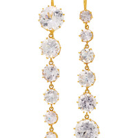 One-Of-A-Kind Gold Antique Kunzite Waterfall Earrings | Moda Operandi