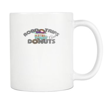 Road Trips And Donuts Coffee Mug, 11 Ounce