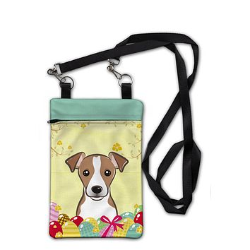 Jack Russell Terrier Easter Egg Hunt Crossbody Bag Purse BB1942OBDY