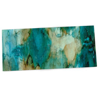 "Rosie Brown ""Waterfall"" Teal Blue Desk Mat"