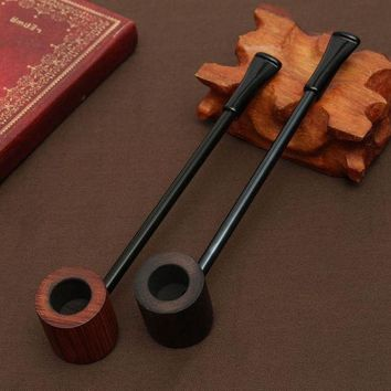 VONC1Y Ebony wood pipe Smoking Pipes Portable Smoking Pipe Herb Tobacco Pipes Grinder Smoke Gifts Black/Coffee 2 Colors