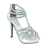 shop prom dresses | plus size prom dresses | prom shoes | Toni by Touch Ups TU546 Silver Strappy Sandal | GownGarden.com