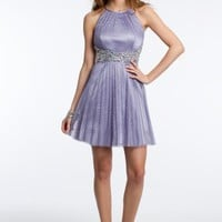 Glitter Pleated Dress