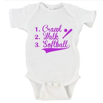 Crawl Walk Softball Gerber Onesuit ®