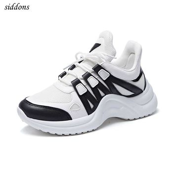 Siddons 2018 women Platform Sneakers Woman Wedge Casual Shoes Breathable Trainers Female Sneakers Woman Mesh Shoes size: 35-43