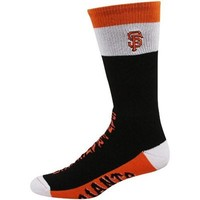 San Francisco Giants Three-Color Cuff Promo Socks - Black/White/Orange